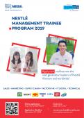 Hành trình chinh phục Quản trị viên tập sự - Management trainee Nestlé của 1 cựu sinh viên khoa SH-CNSH