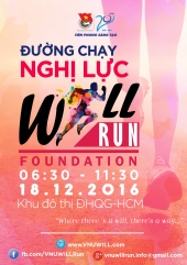 """Thông báo chương trình Đường chạy nghị lực """" VNU WILL RUN ' NĂM 2016"""