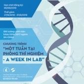 """Thông báo chương trình """"Một tuần tại PTN - A week in lab"""" lần 3-2018"""