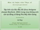 Bảo vệ Luận Văn Thạc Sỹ: Tập Tính Sếu Đầu Đỏ tại Đồng cỏ Bàng Phú Mỹ, Kiên Giang