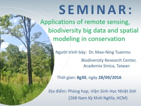 Seminar: Applications of remote sensing, biodiversity big data and spatial modeling in conservation