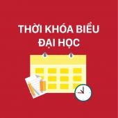 THỜI KHÓA BIỂU HK2 NĂM HỌC 2018 - 2019 NGÀNH SH & CNSH