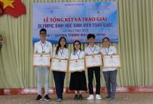 Đoàn SV khoa SH-CNSH đạt 5 giải Nhì trong kỳ thi Olympic Sinh học Toàn Quốc 2020