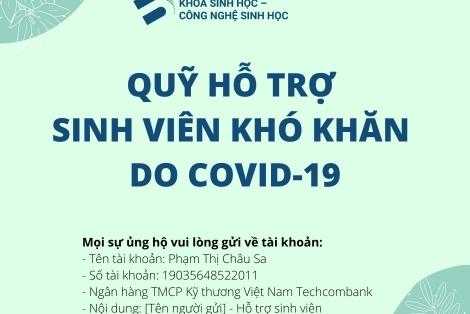 Thông tin hỗ trợ sinh viên khó khăn do COVID-19