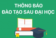 Thông báo tuyển sinh Sau Đại học năm 2021 - đợt 1