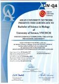 Chương trình Cử nhân ngành Sinh học đạt tiêu chuẩn AUN-QA