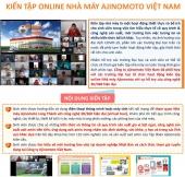 Chương trình kiến tập online Nhà máy Ajinomoto Việt Nam