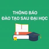 Thông báo tuyển học viên cao học - NCS của CNU